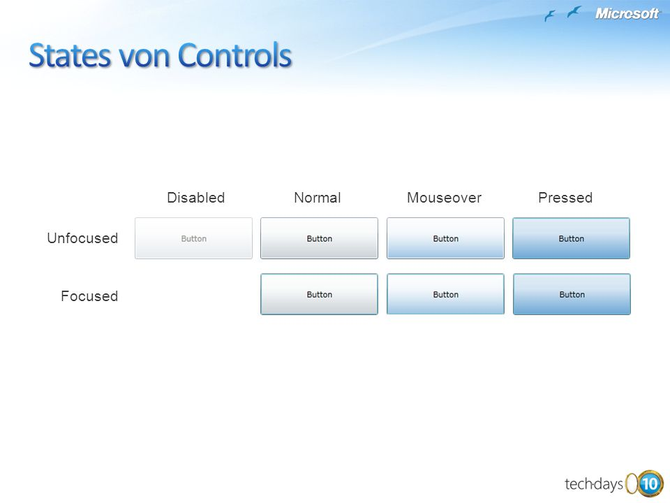 States von Controls Disabled Normal Mouseover Pressed Unfocused