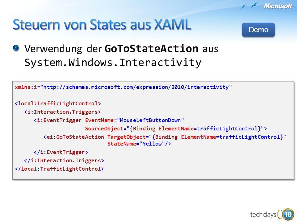 Steuern von States aus XAML