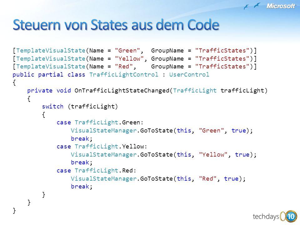 Steuern von States aus dem Code