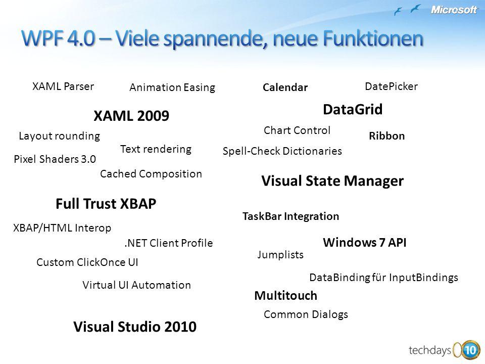 WPF 4.0 – Viele spannende, neue Funktionen