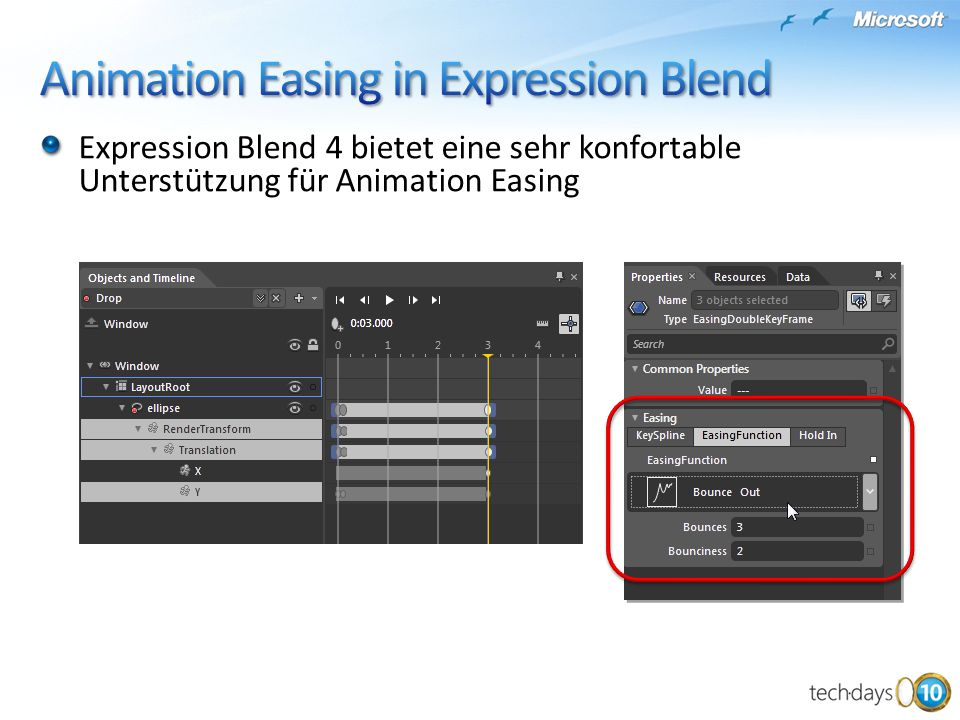 Animation Easing in Expression Blend