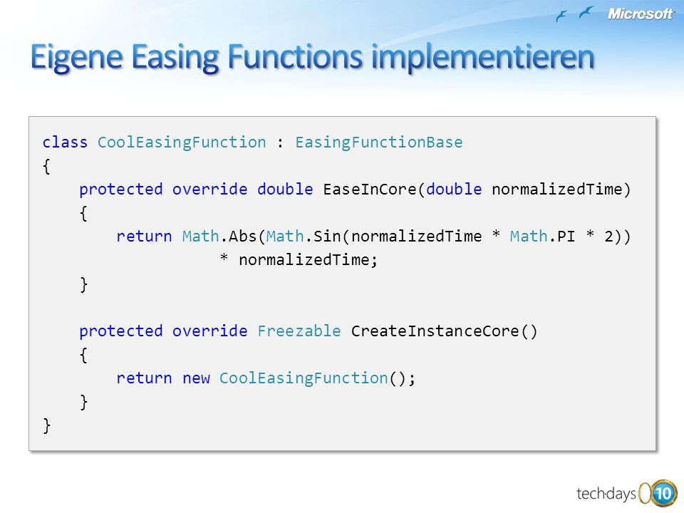 Eigene Easing Functions implementieren