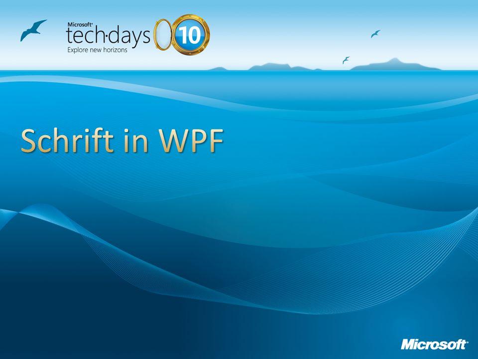 Schrift in WPF