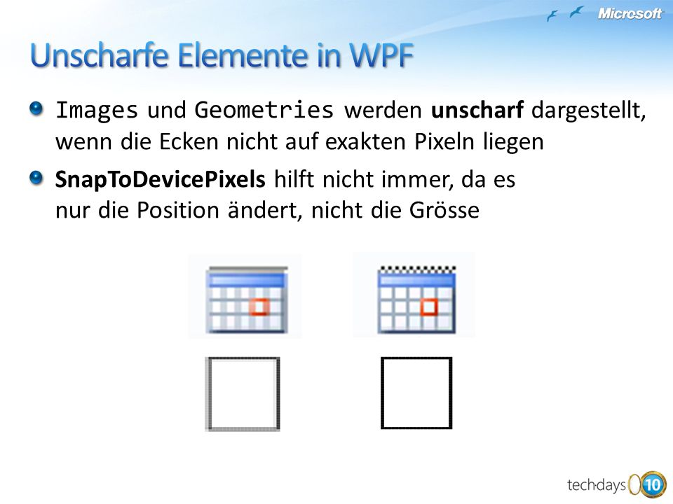 Unscharfe Elemente in WPF