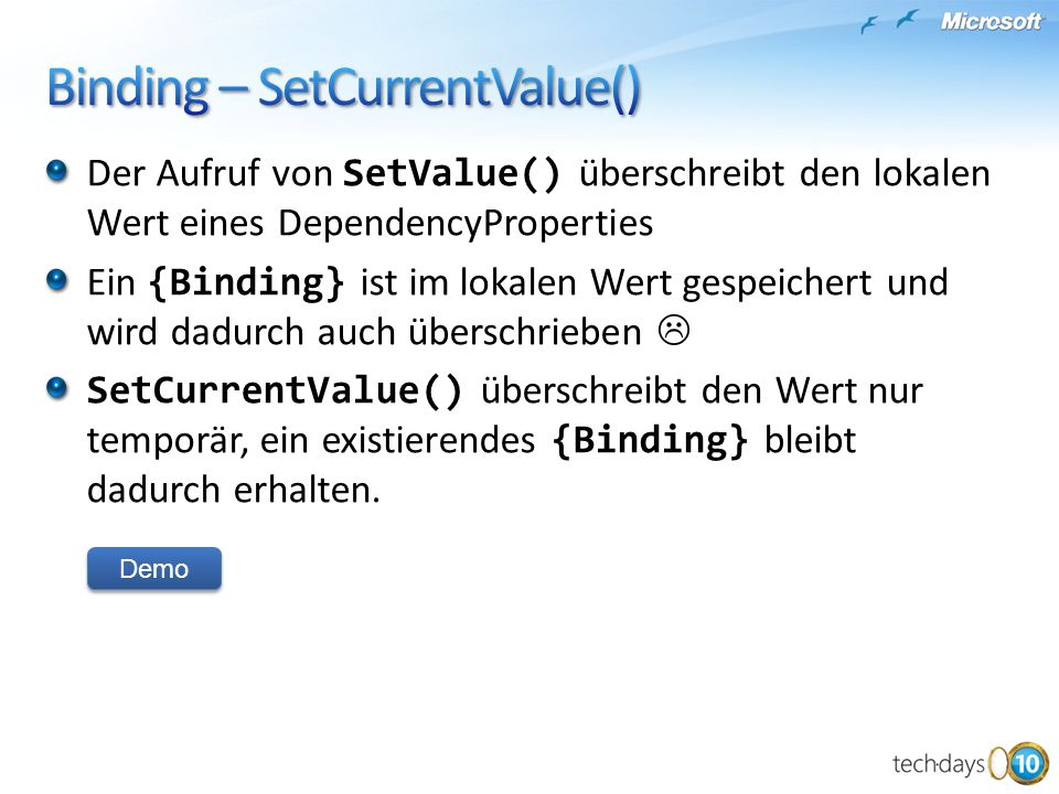 Binding – SetCurrentValue()