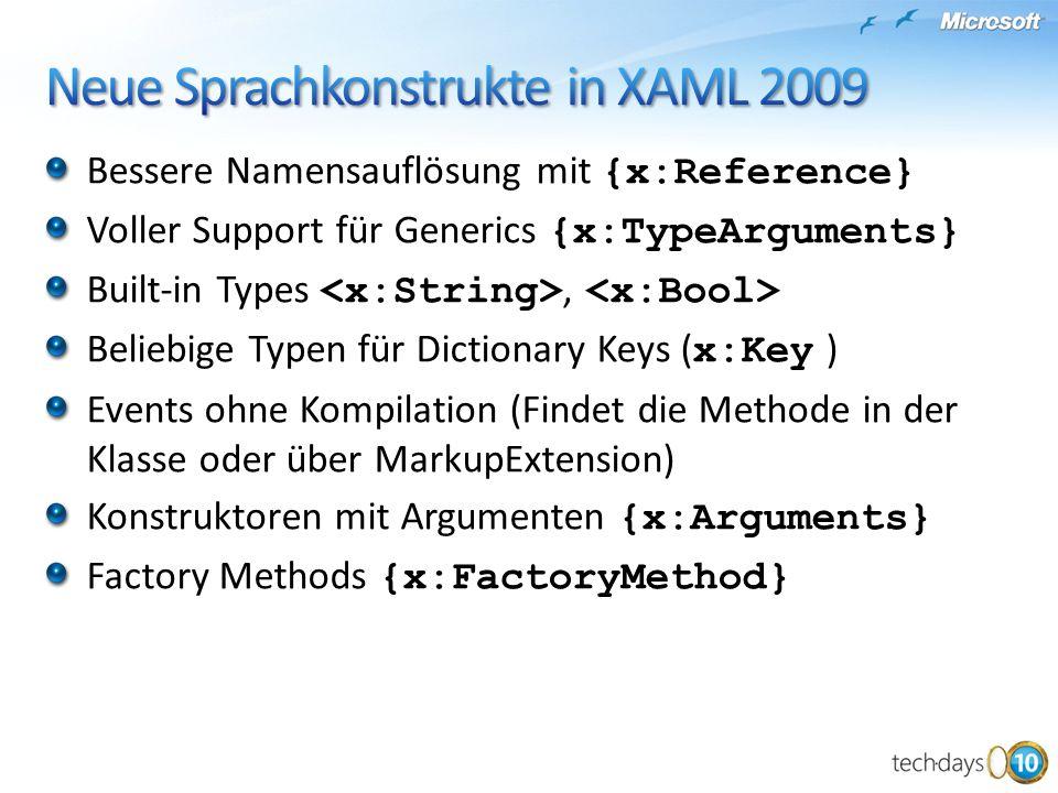 Neue Sprachkonstrukte in XAML 2009