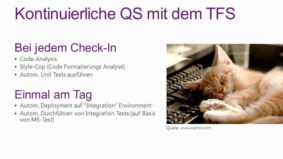 Kontinuierliche QS mit dem TFS