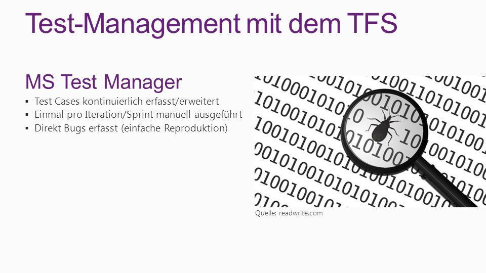 Test-Management mit dem TFS