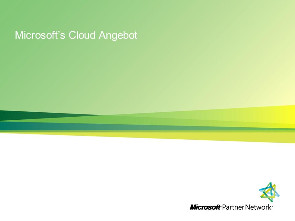 Microsoft's Cloud Angebot