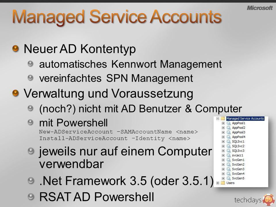Managed Service Accounts