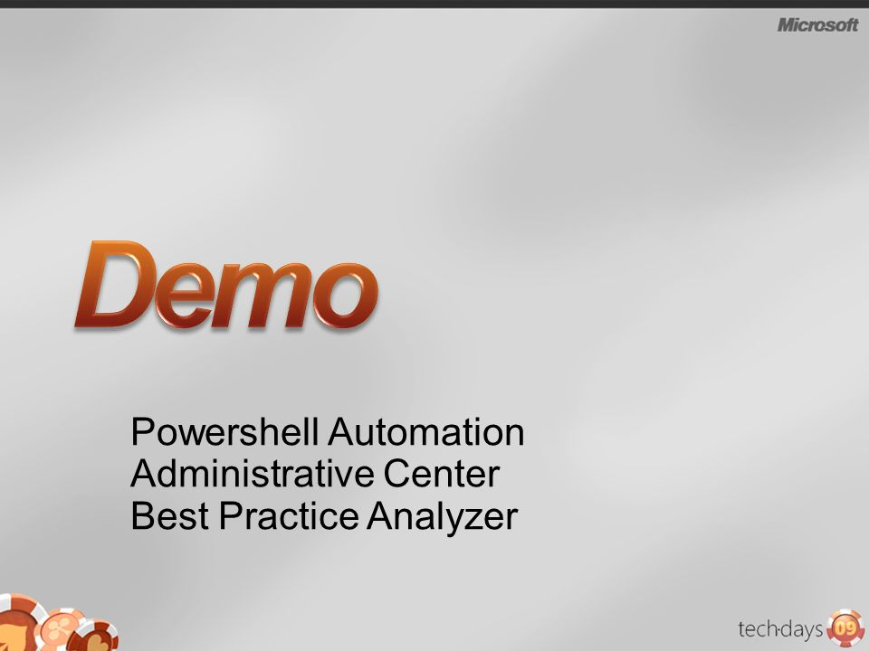 Powershell Automation Administrative Center Best Practice Analyzer