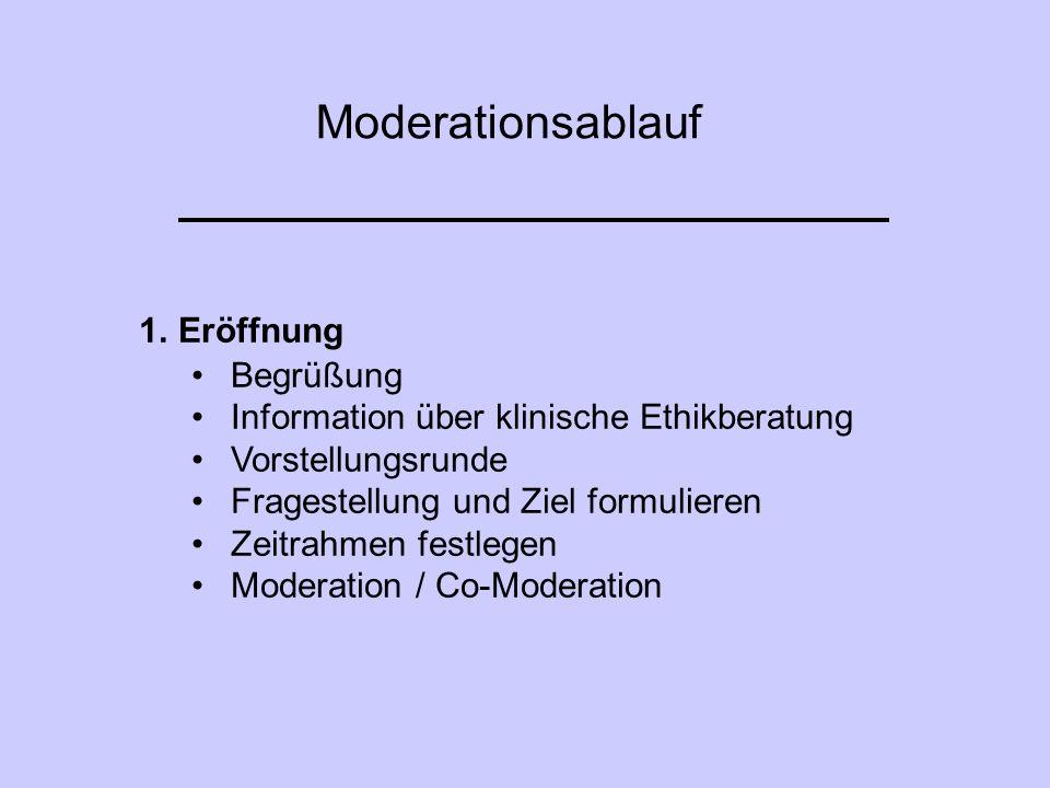 Moderationsablauf Eröffnung Begrüßung