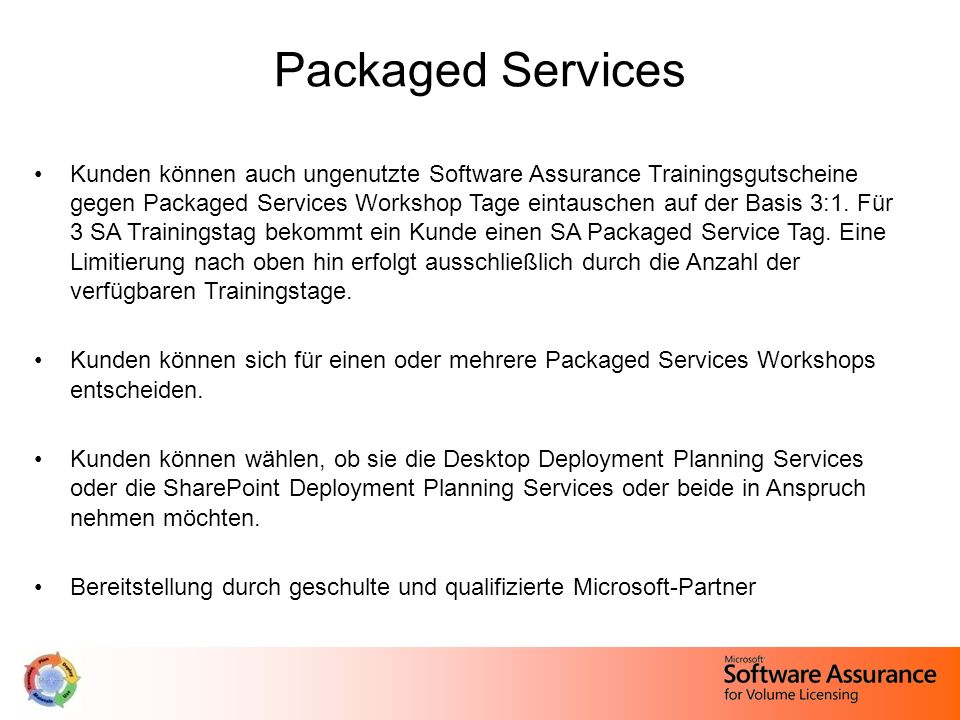 Packaged Services