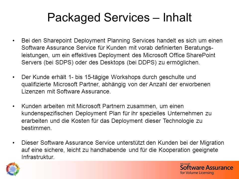 Packaged Services – Inhalt