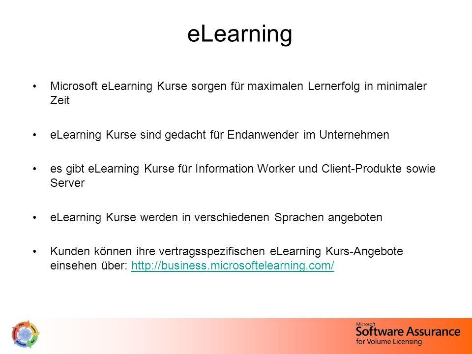eLearning Microsoft eLearning Kurse sorgen für maximalen Lernerfolg in minimaler Zeit. eLearning Kurse sind gedacht für Endanwender im Unternehmen.