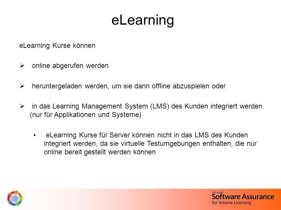 eLearning eLearning Kurse können online abgerufen werden