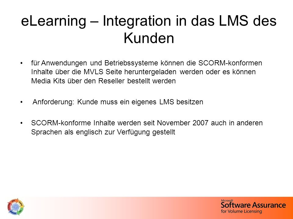 eLearning – Integration in das LMS des Kunden