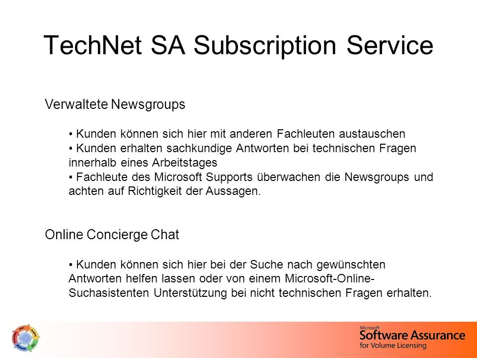 TechNet SA Subscription Service