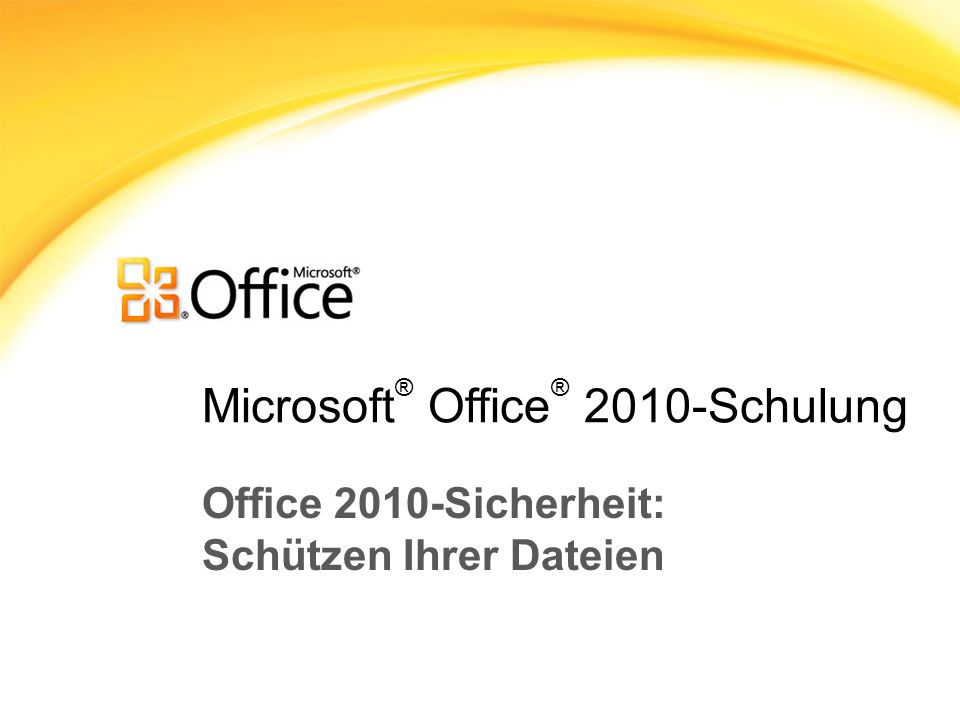 Microsoft® Office® 2010-Schulung