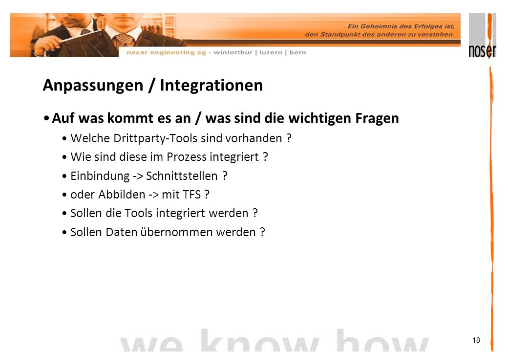 Anpassungen / Integrationen