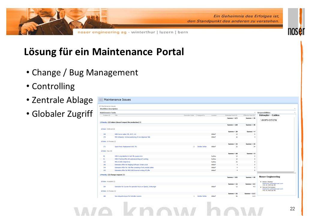 Lösung für ein Maintenance Portal