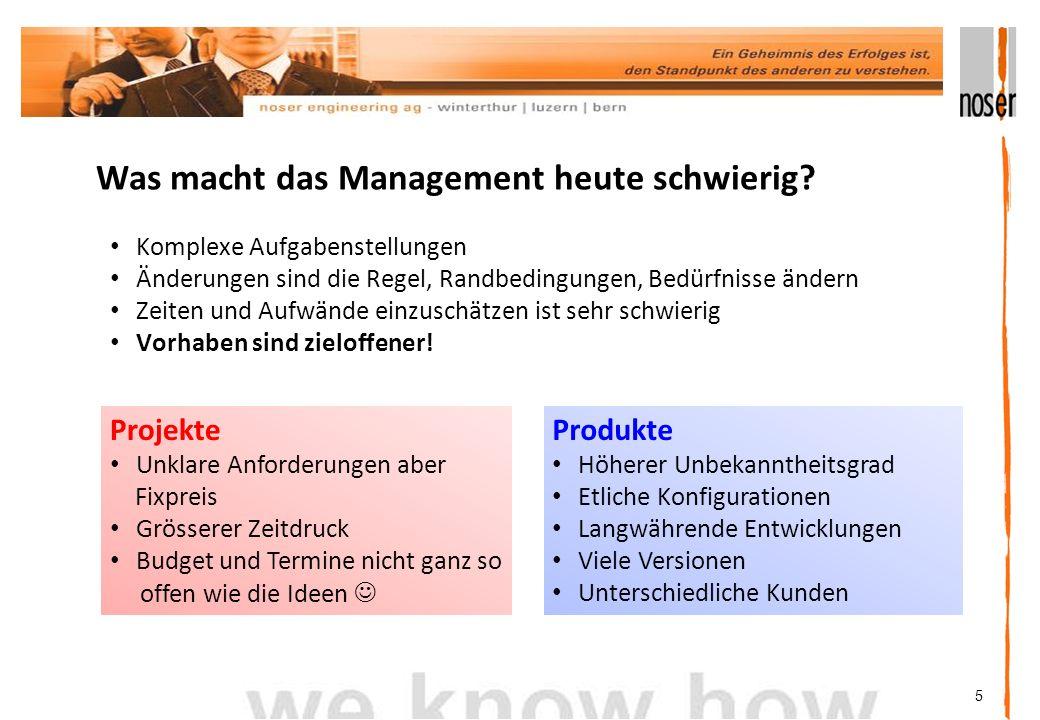 Was macht das Management heute schwierig