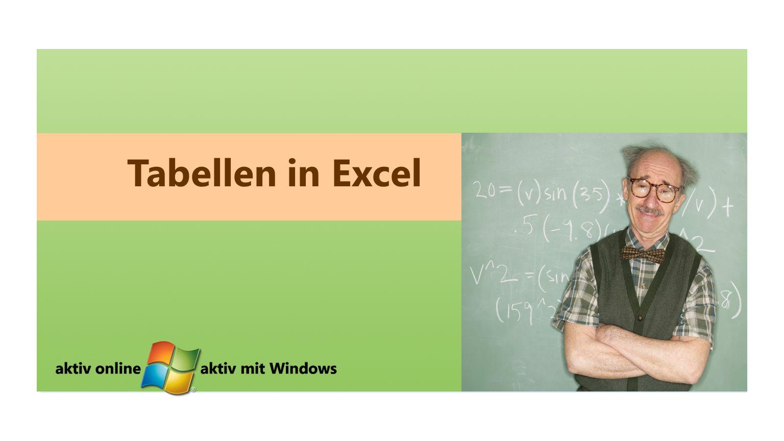 Tabellen in Excel