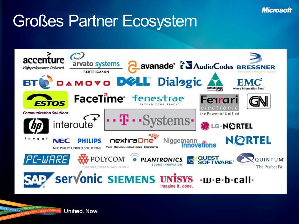 Großes Partner Ecosystem