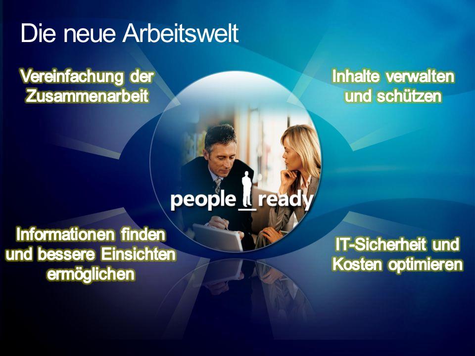 Die neue Arbeitswelt Vereinfachung der Zusammenarbeit