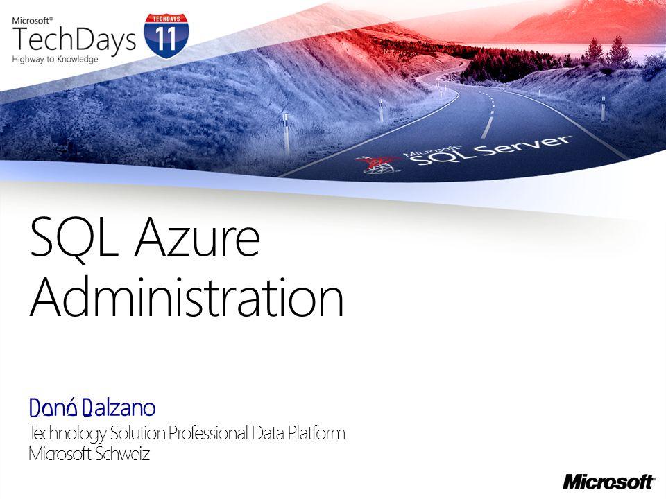 SQL Azure Administration