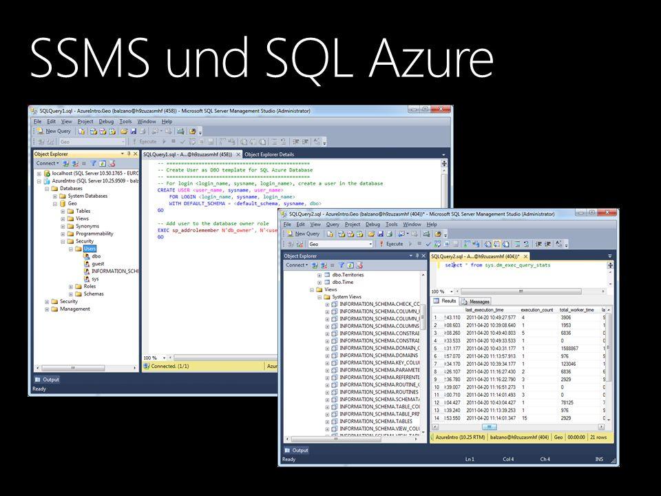 SSMS und SQL Azure