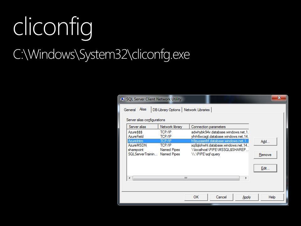 cliconfig C:\Windows\System32\cliconfg.exe