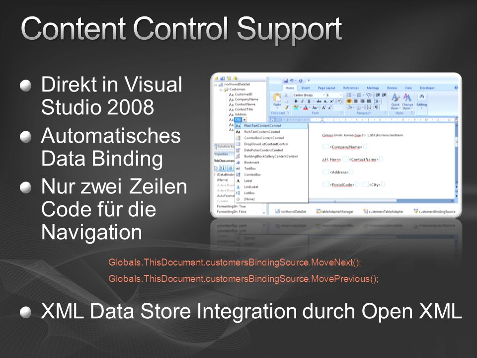 Content Control Support
