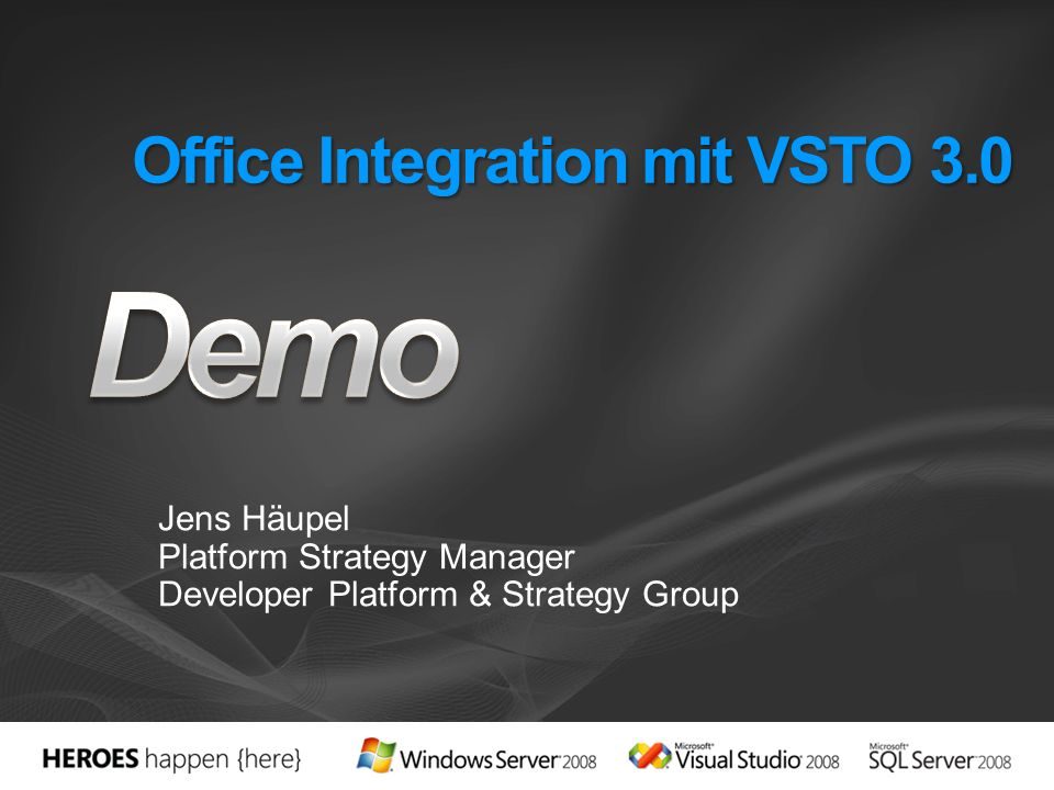 Office Integration mit VSTO 3.0