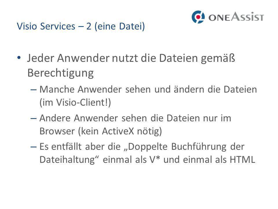 Visio Services – 2 (eine Datei)