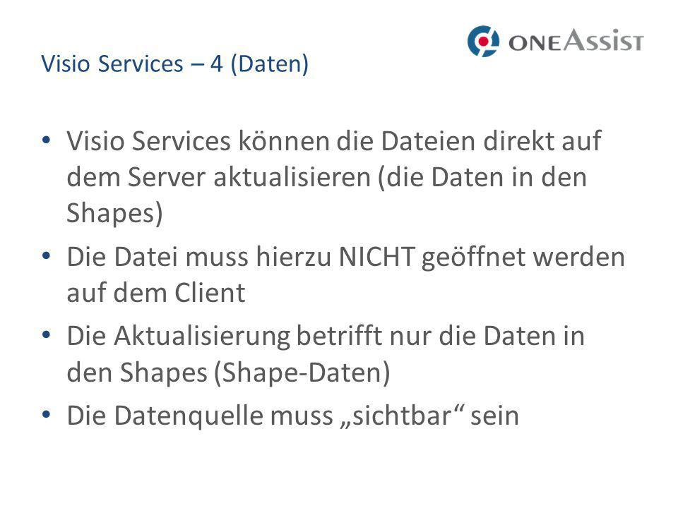 Visio Services – 4 (Daten)