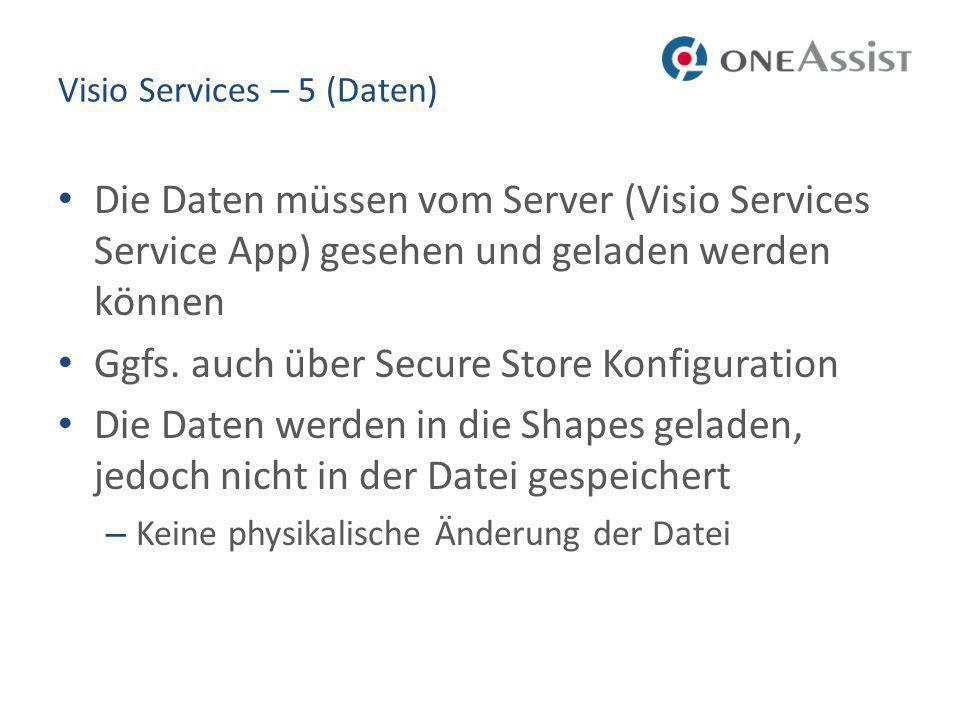 Visio Services – 5 (Daten)