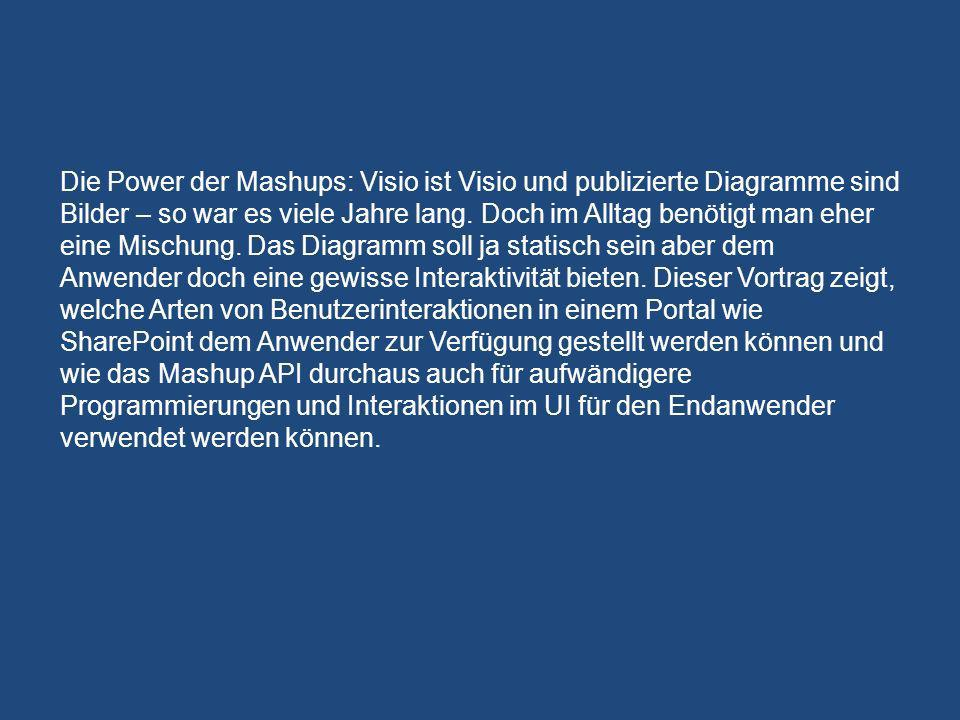 Die Power der Mashups: Visio ist Visio und publizierte Diagramme sind Bilder – so war es viele Jahre lang.