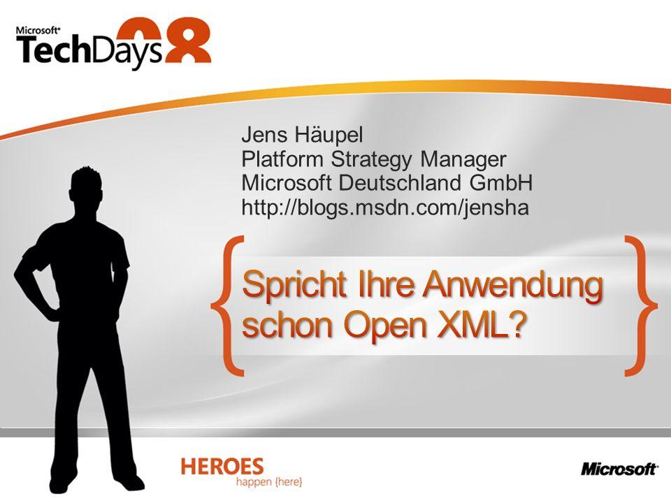 Spricht Ihre Anwendung schon Open XML