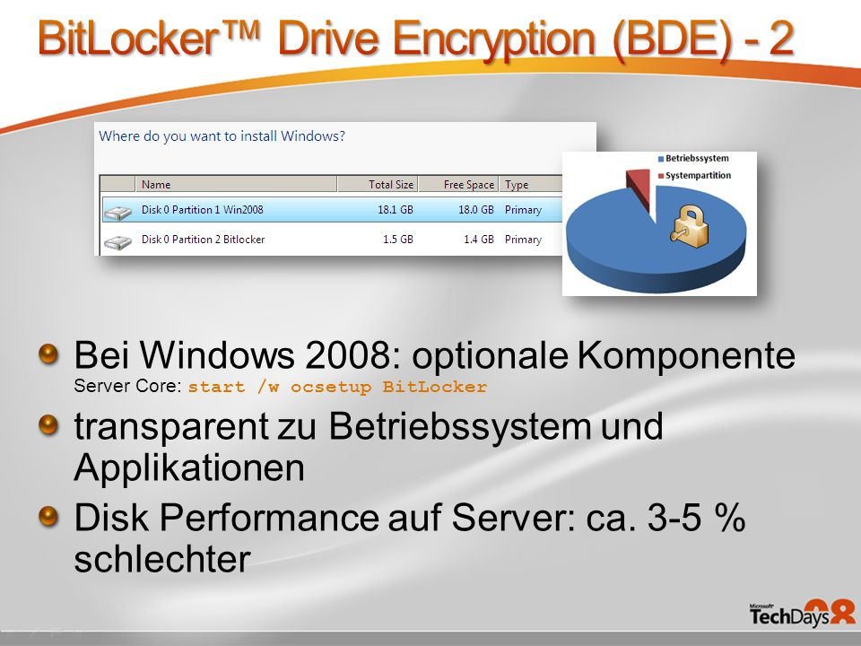BitLocker™ Drive Encryption (BDE) - 2
