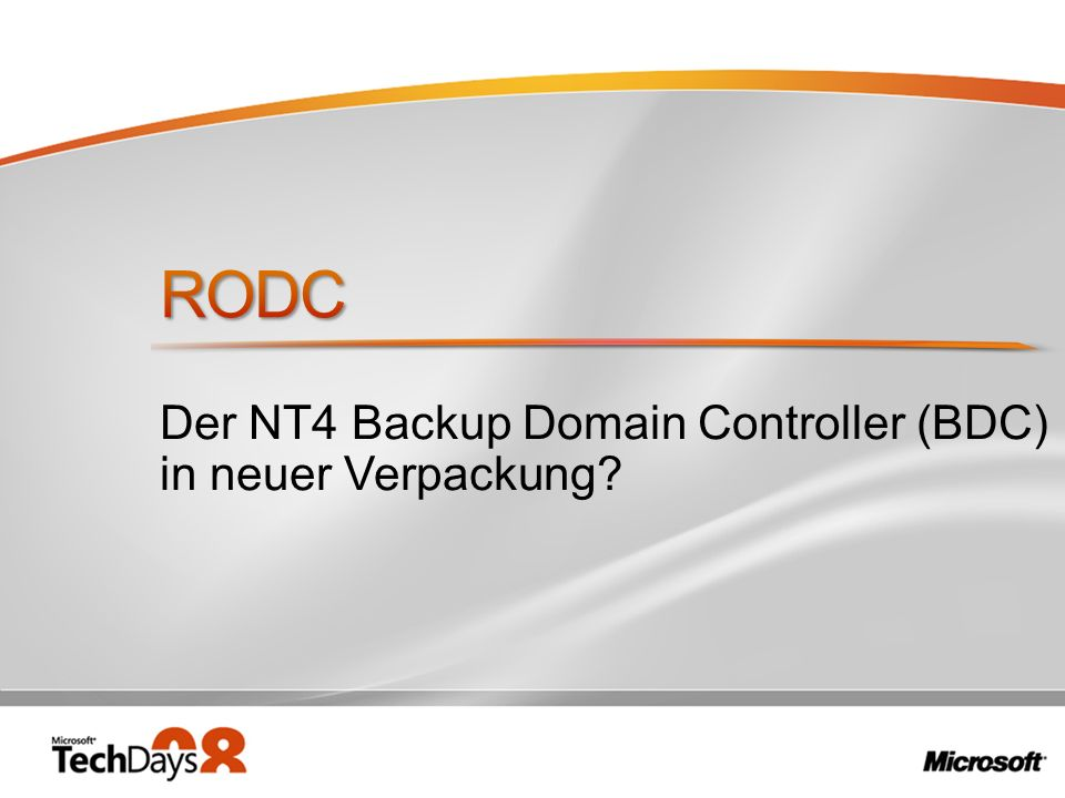 Der NT4 Backup Domain Controller (BDC) in neuer Verpackung