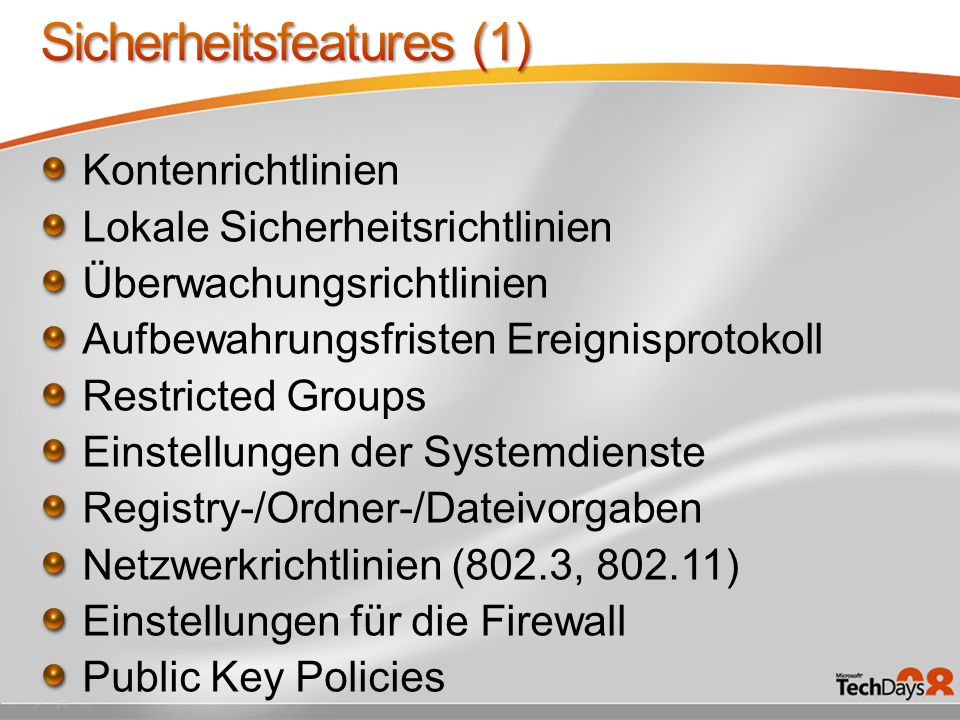 Sicherheitsfeatures (1)