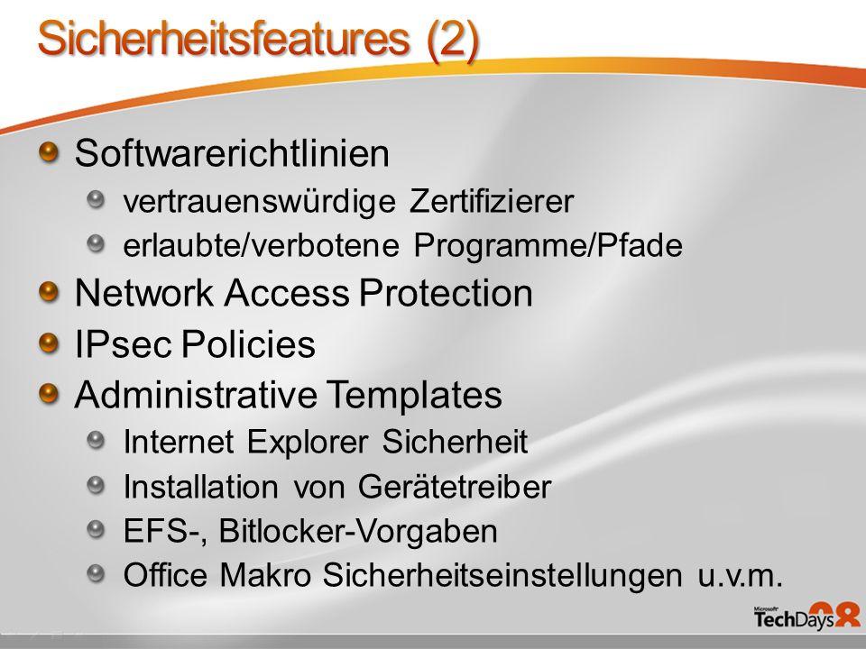 Sicherheitsfeatures (2)