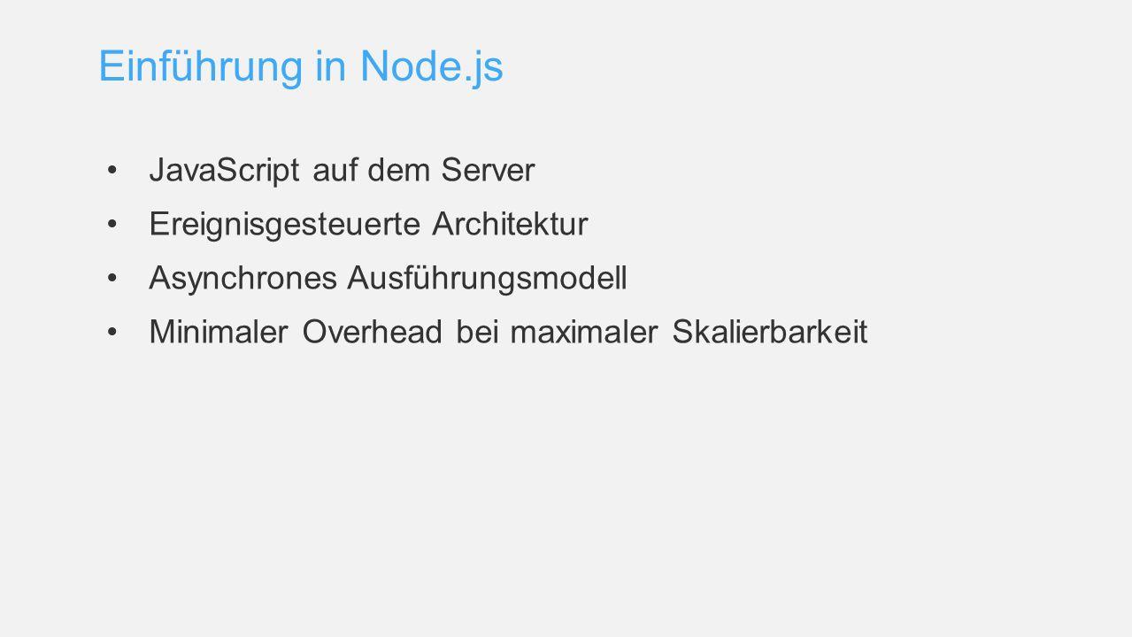 Einführung in Node.js JavaScript auf dem Server