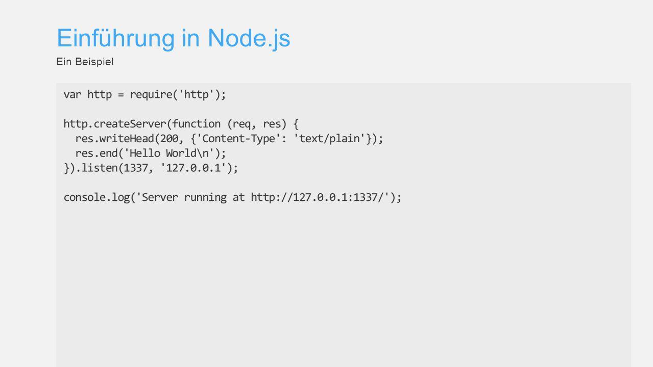 Einführung in Node.js Ein Beispiel