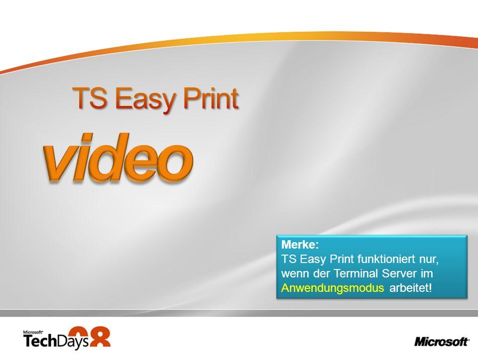 video TS Easy Print Merke:
