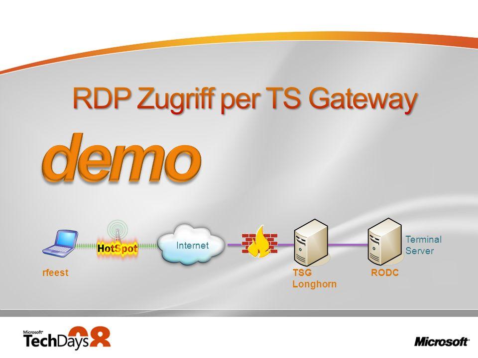 RDP Zugriff per TS Gateway
