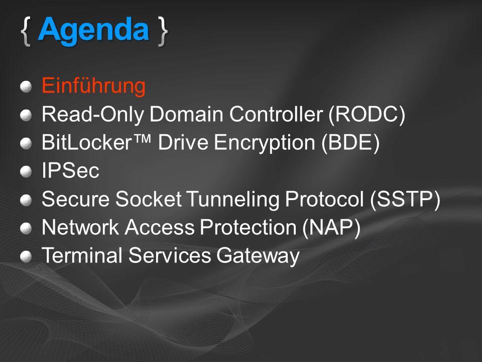 { Agenda } Einführung Read-Only Domain Controller (RODC)