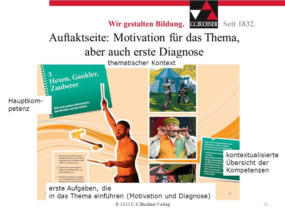 Auftaktseite: Motivation für das Thema, aber auch erste Diagnose