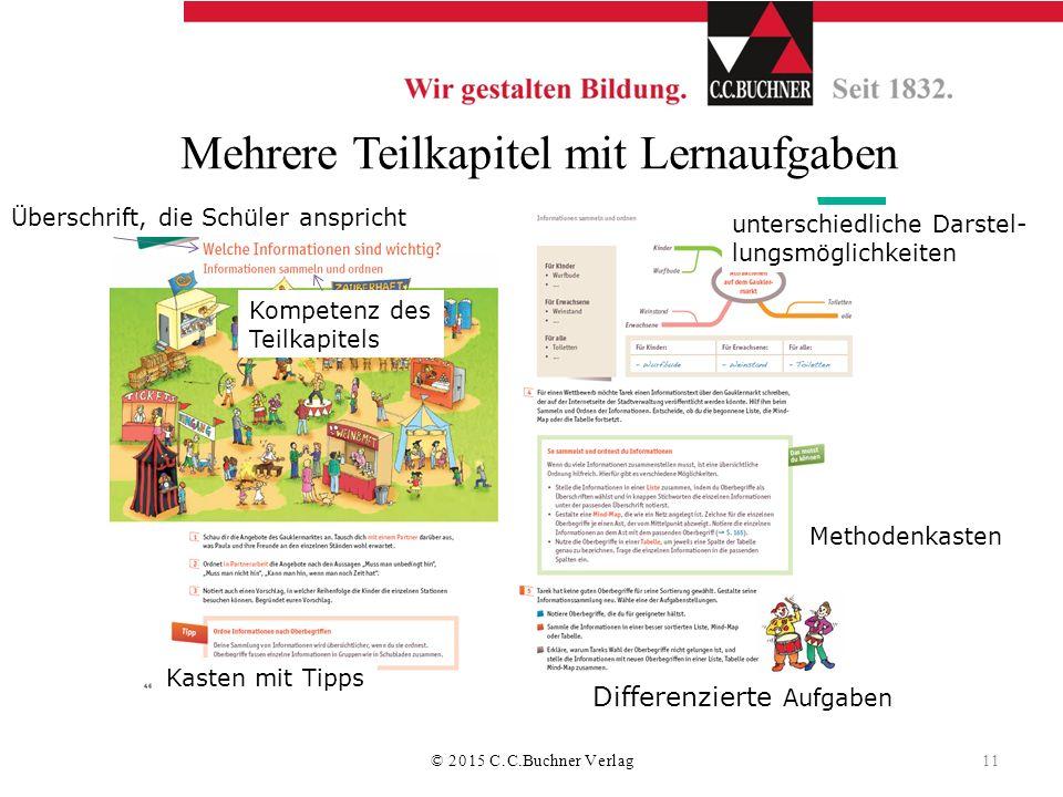 Mehrere Teilkapitel mit Lernaufgaben